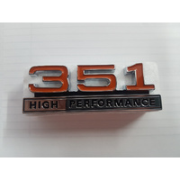 FORD FALCON XW XY GT 351 HIGH PERFORMANCE CONSOLE BADGE