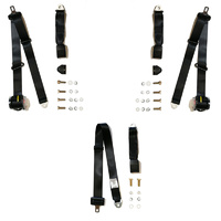 Rear Seat Belt Set to Suit 1987-92 Toyota Corolla AE91 Sedan - ADR Approved