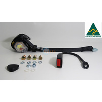 Driver Side Seat Belt to Suit 1988 Mitsubishi Pajero NG - inc Fitting Bracket - ADR
