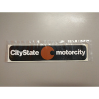 DEALERSHIP DECAL CITYSTATE MOTORCITY (GMH)