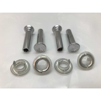 Holden Chrome Door Lock Knobs and Surrounds HK HT HG HQ-WB LC-LJ LX-UC