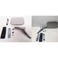 Holden Door Mirror Inc Stalk + Fitting Kit - Suit HQ HJ HX HZ WB Torana LH LX UC