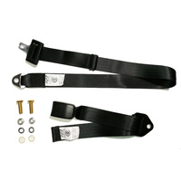 Universal Lap Belt Non Retractable 1.2M - Adjustable Webbing Buckle - ADR